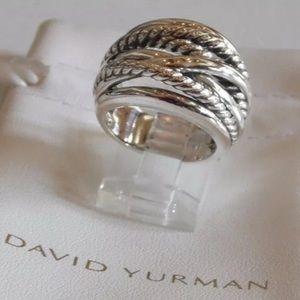 David Yurman Wide Crossover Ring Sz 7